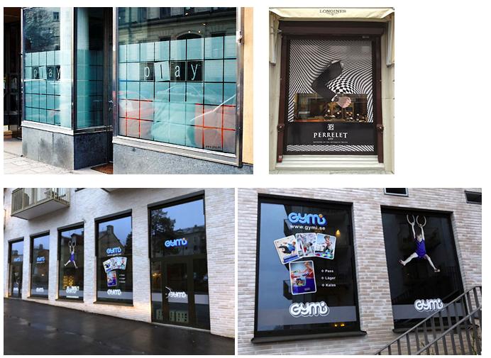 Fönsterdekor, insynsskydd, butiksfönsterreklam Stockholm