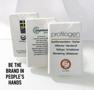 Köpa Handsprit och handdesinfektion i Corona-virus-tider Covid-19 pocket-format